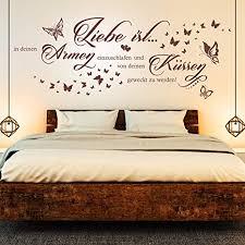 wandtattoo liebe ist in deinen armen einzuschlafen spruch paare schlafzimmer deko silber metallic 090 72 x 27 cm
