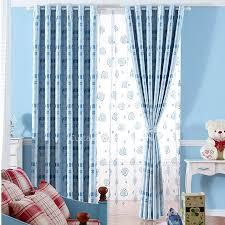 beste niedlich gemustert blau schlafzimmer gardinen