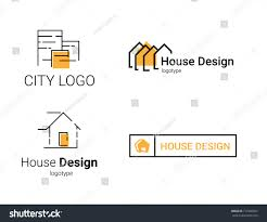 100 Interior Designers Logos Set Designer Flat Architecture Stock Vector