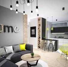 modernes wohnzimmer sofa anthrazit graue wandfarbe gelbe