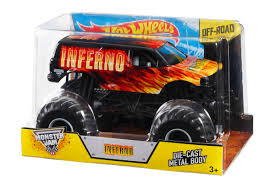 Hot Wheels Monster Jam Inferno 1:24 Die-Cast Vehicle - Shop Hot ... Hot Wheels Monster Jam Mega Air Jumper Assorted Target Australia Maxd Multi Color Chv22dxb06 Dashnjess Diecast Toy 1 64 Batman Batmobile Truck Inferno 124 Diecast Vehicle Shop Cars Trucks Amazoncom Mutt Dalmatian Toys For Kids Travel Treds Styles May Vary Walmartcom Monster Energy Escalade Body Custom 164 Giant Grave Digger Mattel