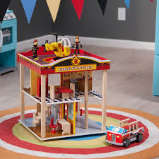 Kidkraft Fire Station Playset, Kidkraft Fire Truck Toddler Bedding ...