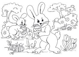 Happy Easter Coloring Pages Colouring To Print Bunnies Bunny Pdf