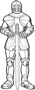 Sword Knight Coloring Pages