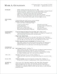 Mechanical Engineer Resume Examples Sample For Manufacturing Engineering Electrical Samples