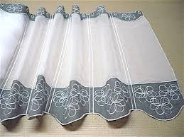 rideau de cuisine brise bise rideau brise bise brodé sur sablé blanc gris