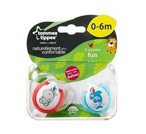 Tommee Tippee Fun Style Orthodontic Soothers - 0-6 Months, 2pcs