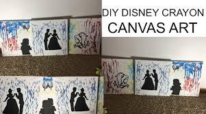 DIY Disney Crayon Canvas Art