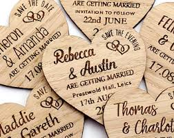 Save The Date Magnet Rustic Heart Wooden Wedding