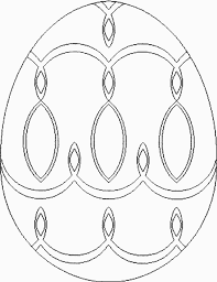 Easter Egg Design Coloring Page