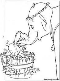 Coloring Pages Disney Characters Dumbo And Mrs Jumbo