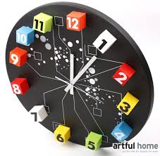 Metal DIY Wall Clocks For Hall Colorful Number Clock Baby Room 5050CM