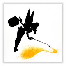 Tinkerbell Pumpkin Stencil by Black Pop Contemporary Art Gallery