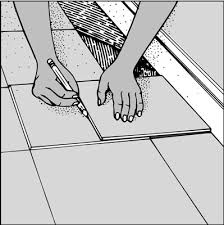 how to install a ceramic tile floor dummies