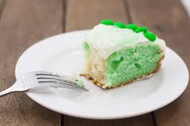 Green White Cake Slice
