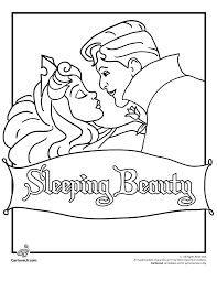 Sleeping Beauty Coloring Pages Page Cartoon Jr