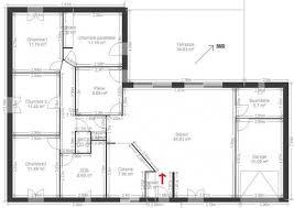 plan de maison plain pied 4 chambres plan maison 4 chambres et un bureau