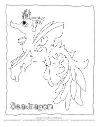 Cartoon Coloring Pictures Seadragon Echos Seahorse Pages Have You Ever Seen A Sea Dragon Of Seadragons From Our Fantasy