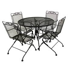 Arlington House Glenbrook 5-Piece Patio Dining Set-7871742 ... Modern Rustic 5piece Counter Height Ding Set Table With Storage Shelves Arlington House Trestle With 2 Upholstered Host Chairs Side And Bench Slat Back All Noble Patio Round Wicker Outdoor Multibrown Details About Delacora Webd48wai 5 Piece Steel Framed Barnwood Conference Room Tables 10 Styles To Choose From Ubiq Imagio Home 3piece Drop Leaf Black Leg 4 Best Spring Brunches Argos Tribeca Oak Two Farmhouse Pine Action Charcoal Liberty Fniture Industries Spindle Chair Of