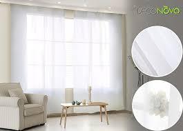 amazon com deconovo sheer white curtains grommet curtains voile