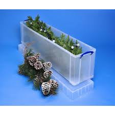Christmas Tree Storage Tote With Wheels by Really Useful Box Stackable Storage Box 64 L 710 X 440 X 310 Mm