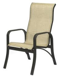 Popular High Back Patio Chair Montego Bay Aluminum Sling Chairs