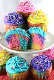 Unicorn Marble Cupcakes