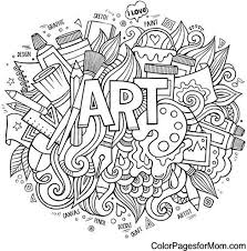 Art Free Adult Coloring Book Page