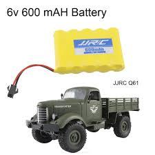 100 4 Wheel Truck Parts Remote Control Military Drive Off Road RC 6V 600MAH