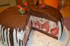 stracciatella erdbeer schoko torte