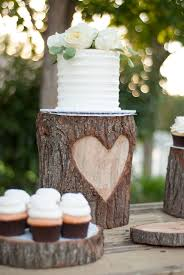 So Lets Kick Off The Vintage Romance Wedding Series With A DIY Heart Stump Cake Stand One Of My Favorite Details Entire