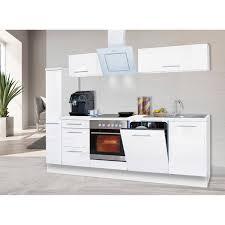 respekta premium küchenzeile 250 cm weiß hochglanz