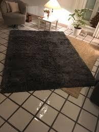 ikea gäser teppich anthrazit grau 170 cm x 240 cm eur 40