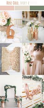 Rose Gold And Ivory White Simple Modern Country Neutral Wedding Colors