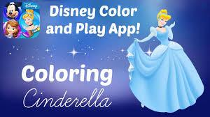 Disney Color And Play App Coloring Princess Cinderella Book