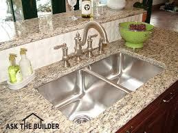 Installing Sink Strainer In Corian by Undermount Kitchen Sinks Ask The Builderask The Builder