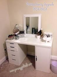 Micke Desk With Integrated Storage Hack by Diy Makeup Vanity Desk Set Up Alex Ikea Hack Vanity