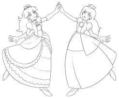 Princess Peach Coloring Pages For Kids