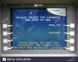 Cash Machines With Cockney Language Option