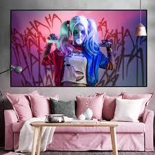 harley quinn anti poster und drucke kunst malerei comic x selbstmord team wand bild cuadros für wohnzimmer