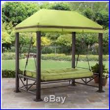 pergola swing bed patio canopy outdoor furniture porch with stand