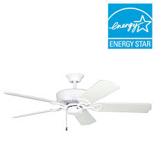 Hunter Ceiling Fan Blades White by Hunter Builder Low Profile 52 In Indoor Snow White Ceiling Fan
