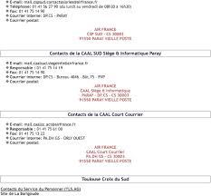 mail absence maladie bureau contacts caal et csp pdf
