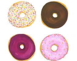Sprinkles Donuts Watercolor Illustration Print