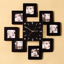 Picture Frame Wall Clock Up Long Beautifully Decorated Bedroom