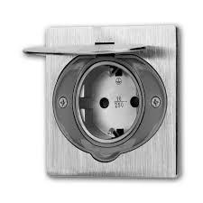 edelstahl feuchtraum steckdose mit deckel klemmanschluss