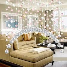 de hunpta kristallglasperlenvorhang luxus wohnzimmer