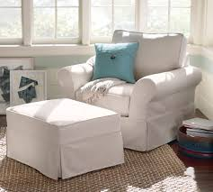 PB fort Roll Arm Slipcovered Armchair