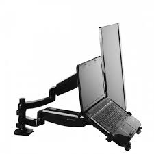 pricedepot fleximounts l02 height adjustable dual arm lcd stand
