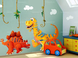 deco chambre dinosaure stickers dinosaures théodore l allosaure